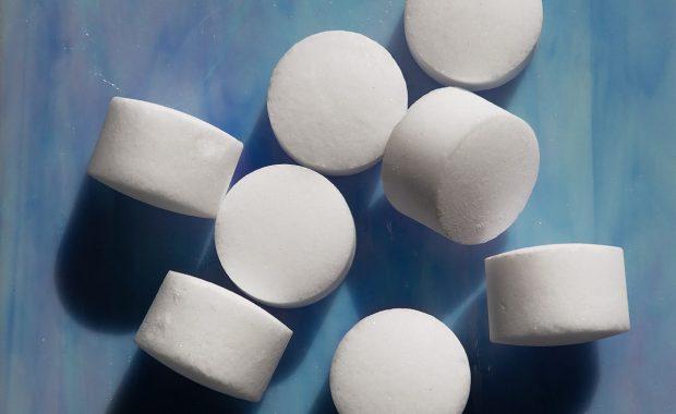 Sale di ebollizione ricristallizzato in pastiglie cilindriche