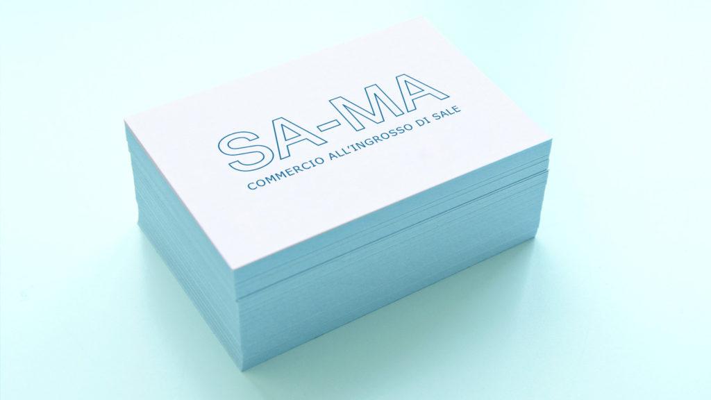 Biglietti da visita SA-MA commercio all'ingrosso di sale