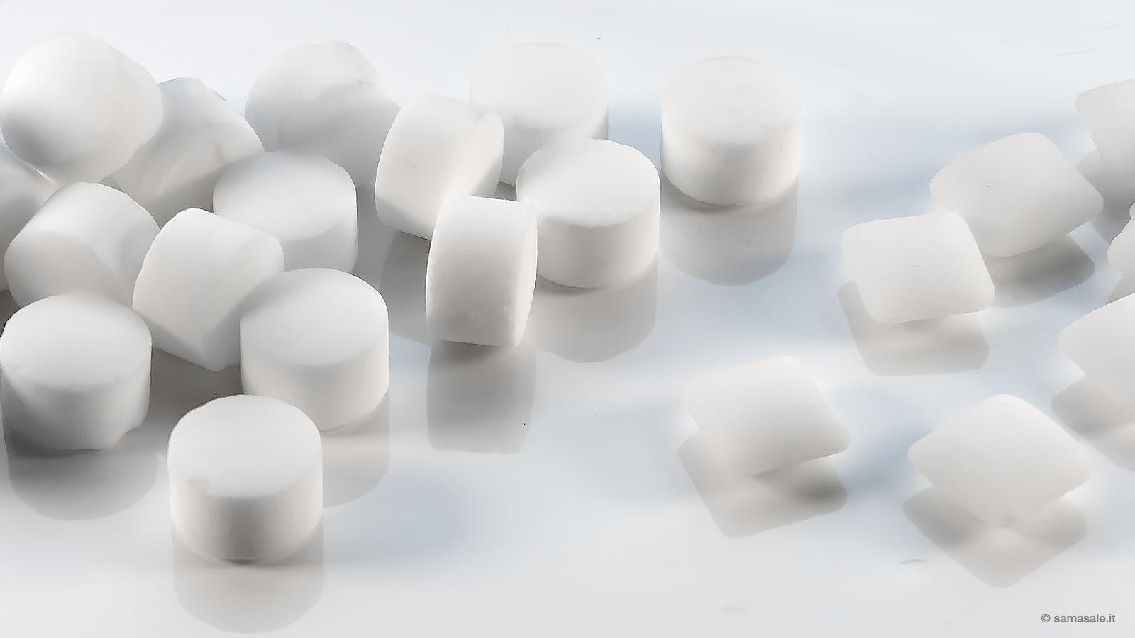 Pastiglie di sale per addolcitori d'acqua